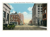 Davenport, Iowa, Views of the Third and Brady Streets Art by  Lantern Press
