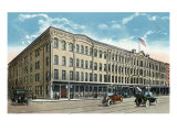 Binghamton, New York, Exterior View of the Hotel Bennett Prints by  Lantern Press