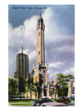 Chicago, Illinois, Exterior View of the Famed Water Tower Posters by  Lantern Press