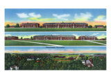 Fort Knox, Kentucky, Panoramic and Aerial View of the Barracks Prints by  Lantern Press