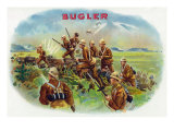Bugler Brand Cigar Box Label, Army Poster