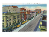 Pueblo, Colorado, Northern View down Main Street from Second Street Art by  Lantern Press