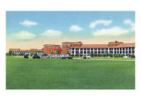 Fort Benning, Georgia, Exterior View of the 29th Infantry Barracks Print by  Lantern Press