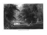 Scenic View of the Mount Auburn Cemetery, Watertown, Massachusetts Print by  Lantern Press