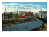 Binghamton, New York, View of the City from the Viaduct Posters by  Lantern Press