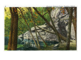 Shawnee National Forest, Illinois, Scenic View in Southern Illinois Poster by  Lantern Press