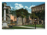 Binghamton, New York, View from the Court House Steps Posters by  Lantern Press