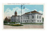 Davenport, Iowa, Augustana College, Exterior View of the Denkmann Memorial Library Posters by  Lantern Press