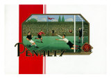 Penalty Brand Cigar Inner Box Label, Soccer Prints