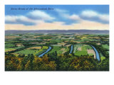 Virginia, Aerial View of the Seven Bends of the Shenandoah River Art by  Lantern Press
