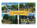 Fredericksburg, Virginia, Famous Scenes of the City Prints by  Lantern Press