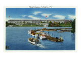 Arlington, Virginia, Panoramic View of the Pentagon from the Water Prints by  Lantern Press