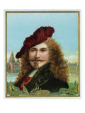 Rembrandt Brand Cigar Box Label, Famous Dutch Painter Print