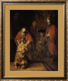 Return of the Prodigal Son Art by  Rembrandt van Rijn