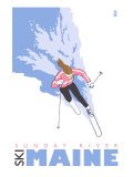 Sunday River, Maine, Stylized Skier Posters