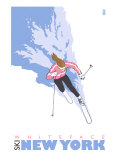 Whiteface, New York, Stylized Skier Prints by  Lantern Press