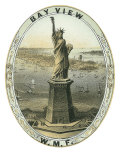 Bay View Brand Cigar Box Label, View of the Statue of Liberty Posters by  Lantern Press
