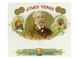 Jules Verne Brand Cigar Box Label, French Science-Fiction Author Prints