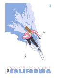 Squaw Valley, California, Stylized Skier Posters by  Lantern Press