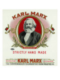 Karl Marx Brand Cigar Box Label, Karl Marx Poster