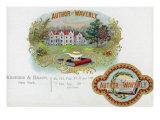 Author of Waverly Brand Cigar Box Label, Sir Walter Scott, English Romantic Author Print by  Lantern Press