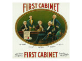 First Cabinet Brand Cigar Box Label, George Washington's Cabinet Posters