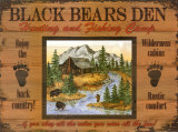 Black Bears Den Posters by Debi Hron