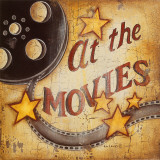 At the Movies Print by Kim Lewis