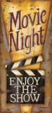 Movie Night Poster van Kim Lewis