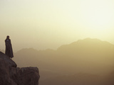 Morning Light on Moses' Mountain Pilgrim, Egypt Photographic Print by Michele Molinari