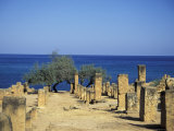 Greek Latin Cultural Center and Mausoleum, Mediterranean Sea Photographic Print by Michele Molinari