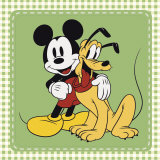 Classic Mickey Mouse and Pluto Art