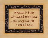 A House is Built Posters by Karen Tribett