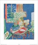 Petit Interieur en Bleu, c.1947 Poster by Henri Matisse