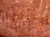 Rock Painting of Hunting Scene, Sahara Photographic Print by Michele Molinari