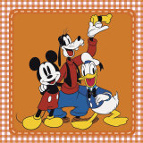 The Classic Gang: Mickey Mouse, Goofy, and Donald Duck Prints