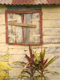 Weathered Cottage of Marie-Galante Island, Guadaloupe, Caribbean Photographie par Walter Bibikow