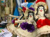Bahamian Dolls at Straw Market, Nassau, Bahamas, Caribbean Photographic Print by Walter Bibikow