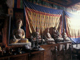 Temple Interior Mustang, Nepal Photographic Print by Vassi Koutsaftis