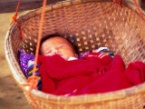Sleeping Baby in Hanging Basket, Hue, Vietnam Photographic Print by Keren Su