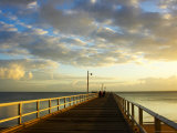 Early Light on Urangan Pier, Hervey Bay, Queensland, Australia Photographic Print by David Wall