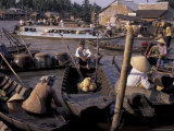 Floating Market in Can Tho, Vietnam Photographic Print by Keren Su