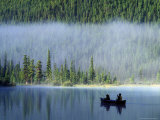 Boys Fishing on Waterfowl Lake, Banff National Park, Alberta, Canada Photographic Print by Janis Miglavs