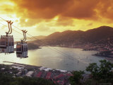 Overview of Town and Harbor, Charlotte Amalie, St. Thomas, Caribbean Fotografie-Druck von Robin Hill