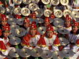 Cymbals Performance at Chinese New Year Celebration, Beijing, China Photographic Print by Keren Su