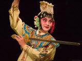 Peking Opera Performance, Beijing, China Lámina fotográfica por Keren Su