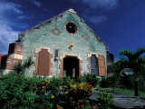 Village Church, Antigua, Caribbean Photographic Print by Nik Wheeler