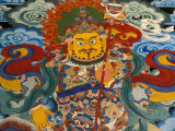 Wall Mural at Tashilumpo, Tibet Photographic Print by Vassi Koutsaftis