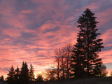 Sunrise From Forest Heights Park, Edmonton, Alberta, Canada Photographic Print by Walter Bibikow