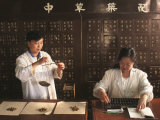 Weighing Herbal Medicine, Beijing, China Photographic Print by Keren Su